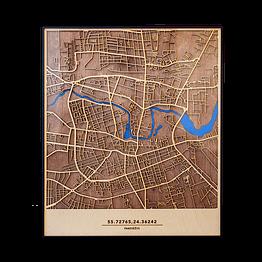 Medinis Panevėžio žemėlapis