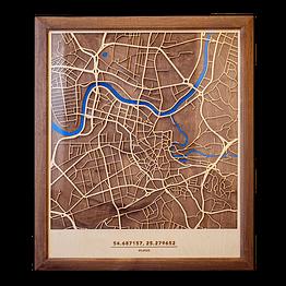 Medinis Vilniaus žemėlapis