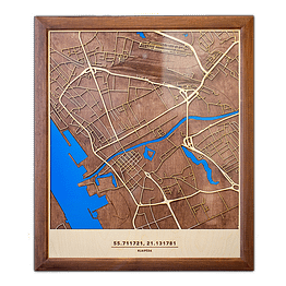 Medinis Klaipėdos žemėlapis