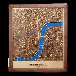 Medinis 3D Londono žemėlapis
