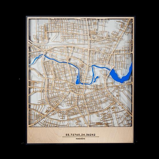 Meinis skaidrus Panevėžio žemėlapis